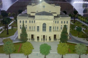 A model of the original theater.
